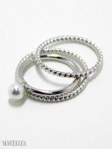 Pearl ring set 1 진주 너클링 세트! 도시녀의 필수품!