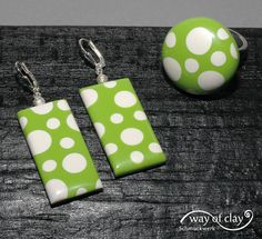 earrings and ring by way of clay