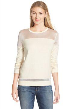 Vince CamutoIllusion Yoke Sweater (Regular & Petite)