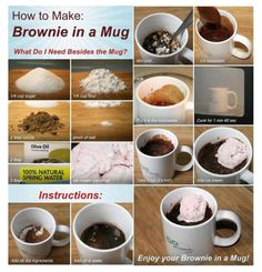 Easy recipe of Personal microwave brownie in a cup