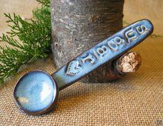 Sugar spoon  Coffee Spoon  Ceramic Spoon   by DragonflyArts, $14.00