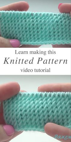 Knitted Pattern Anyone Should Learn Learn how to work this great knitting pattern by watching this video tutorial! Keep reading for tips on how to master this tight knit pattern. Baby Knitting Patterns, Knitting Stiches, Free Knitting, Crochet Stitches, Crochet Patterns, Knitting Ideas, Start Knitting, Knitting Needles, Knitting And Crocheting