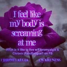 Fibromyalgia awareness day is May 12th wear purple to show support!