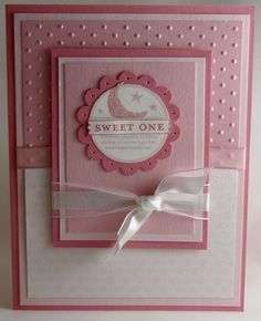 Card ideas Baby Girl card by Stamp Addict 77 - Cards and Paper Crafts at Splitcoaststampers Baby Girl Cards, New Baby Cards, Baby Shower Cards, Paper Cards, Creative Cards, Kids Cards, Cute Cards, Baby Scrapbook, Homemade Cards