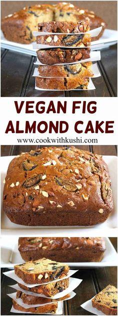 Vegan Fig Almond Cake