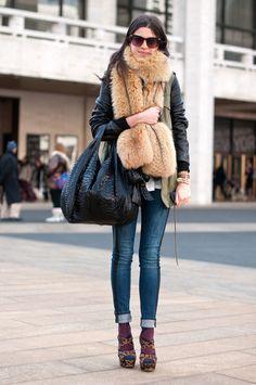 TMR skinnies + fur