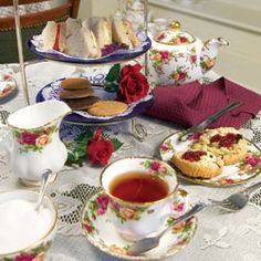 Burgundy Tea Time