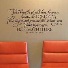 Jeremiah 29 - FOR I KNOW THE PLANS I HAVE FOR YOU