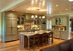 Love the ceilings, cabinets, island!!  SO ME.