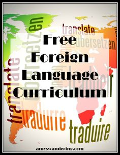 Big list of Free Foreign Language Curriculum