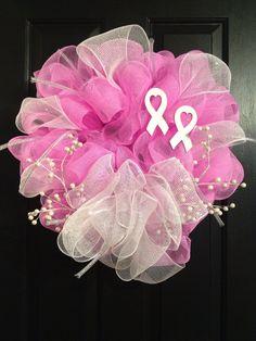 LOVE!!! Breast Cancer Wreath