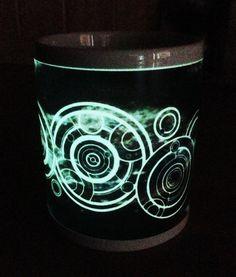Your Name in Gallifreyan Personalised Dr Who Glow in the Dark Mug