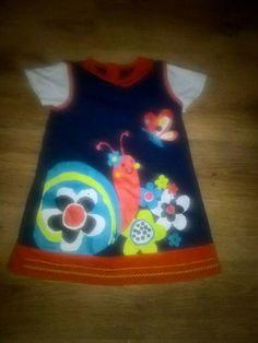 George blue/orange short sleeve floral dress with in excellent condition m. Long Sleeve Tops, Short Sleeve Dresses, Dresses With Sleeves, Baby Girls, Santa Dress, Denim Pinafore, Garden Dress, Orange Shorts, Blue Orange