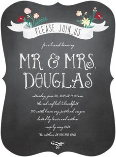 Please join us at a brunch honoring Mr. And Mrs.... Elopement or Post-Wedding Party Invitations