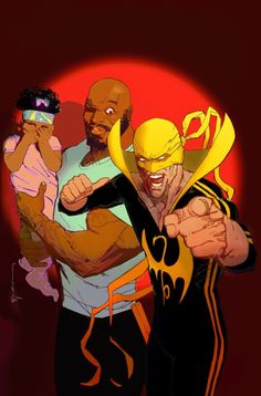 Power Man and Iron Fist No. 2 Cover Featuring Cage, Danielle, Power Man, Iron Fist Marvel Comics Poster - 30 x 46 cm Marvel Comic Character, Comic Book Characters, Marvel Characters, Comic Books Art, Comic Art, Book Art, Marvel Comics, Marvel Comic Universe, Marvel Art