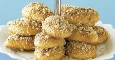 Create these classic Greek biscuits at home. Indulge in the orange, cinnamon and walnut flavours with every bite! Greek Sweets, Greek Desserts, Greek Recipes, Italian Recipes, Biscuit Cookies, Biscuit Recipe, Tea Cakes, Shortbread, Greek