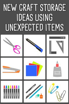 new craft storage ideas using unexpected items Craft Organization, Craft Storage, Storage Ideas, Hobby Room, Useful Life Hacks, New Crafts, Organizing Your Home, Staying Organized, Room Set