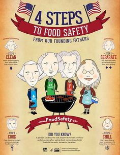 These food safety tips for summer cookouts from the USDA will help you to avoid food poisoning while celebrating July at a backyard barbecue. Food Safety Tips, Cooking Photos, Cooking Tips, Cooking Recipes, Safety Posters, Grilling Tips, Food Hacks, Food Tips, Safe Food
