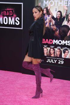 Dania Ramirez attends Bad Moms premiere Dania Ramirez, Kathryn Hahn, Cool Boots, Prom, Lingerie, Celebrities, Swimwear, How To Wear, Beautiful