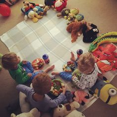 Teddy bears picnic breakfast after a very early start during break half term, it kept them happy whilst I had time for a coffee!