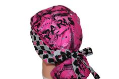 Surgical Scrub Hat  Scrub Cap   Tie Back  Front Fold