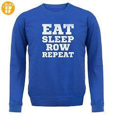Eat Sleep Row Repeat - Unisex Pullover/Sweatshirt - Royalblau - XXL (*Partner-Link)