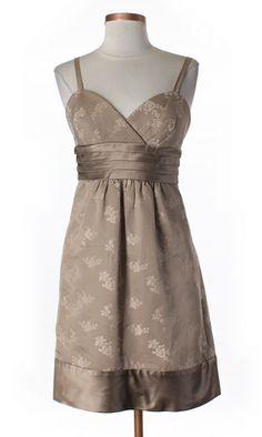 BCBG Max Azria Taupe Floral Brocade Cocktail Dress #bcbg #designer #fashion