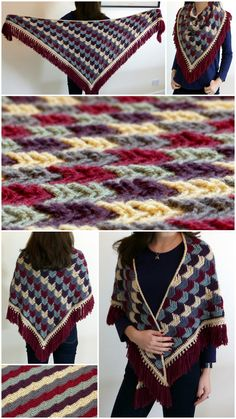 Arrow Tails Shawl - A free crochet pattern from Make My Day Creative, wrap, gratis patroon (Engels), omslagdoek, Picot Crochet, Crochet Rope, Crochet Scarves, Crochet Crafts, Crochet Clothes, Crochet Stitches, Crochet Hooks, Free Crochet, Shawl Patterns