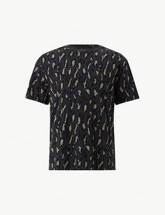 47c6bfb7614ff5 ALLSAINTS - Catamount cotton-jersey T-shirt