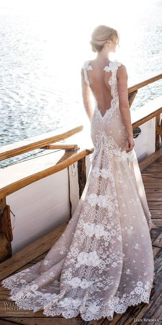 lian rokman 2017 bridal sleeveless deep v neck full embellishment elegant fit and flare wedding dress open back chapel train (topaz) bv