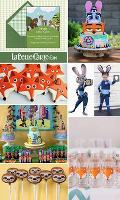 Invitaciones Infantiles, Invitaciones para fiestas infantiles, Cumpleanos zootopia, Fiesta Zootopia