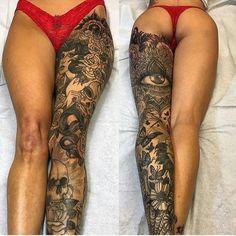 8,332 вподобань, 260 коментарів – B&W   TATTOOS (@bw.tattoos) в Instagram: «Beautiful leg piece! By: @josephhaefstattooer Tag a friend! @bw.tattoos . . 🎨 #art #artist…»