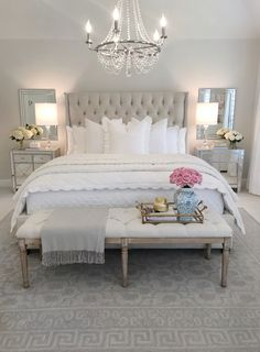Decor bedroom inspo, classy bedroom decor, master bedroom design, home deco Classy Bedroom, Bedroom Makeover, Home Bedroom, Luxurious Bedrooms, Home Decor, Modern Bedroom, Small Bedroom, Glam Bedroom Decor, Master Bedrooms Decor