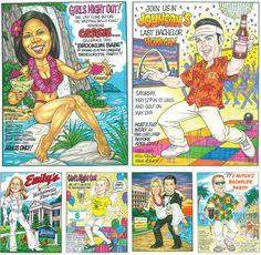 Bachelor and Bachelorette Custom Caricature