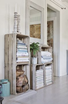 Crate storage, would love to set up an awesome lolly buffet for a wedding like this,,,yoink!