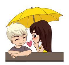 Cute Chibi Couple, Cute Couple Cartoon, Cute Love Cartoons, Cute Love Couple, Cartoon Kiss Gif, Cartoon Gifs, Hug Love Gif, Beauty Iphone Wallpaper, All Disney Princesses