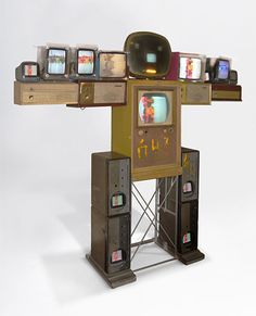 Nam June Paik: Becoming Robot at the Asia Society Nam June Paik, Asia Society, Nyc Fall, Fluxus, Vertical Storage, Antique Cabinets, Ballet Dancers, Love Art, North America