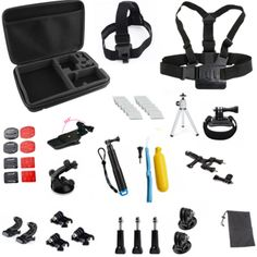 >> Click to Buy << SHOOT Action Camera Accessories Set For gopro 5 4 3 xiaomi yi 4k sjcam sony eken backpack clip head chest wrist strap monopod #Affiliate