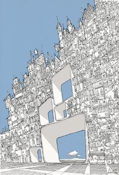 andrerochaillustration:  HOLLOW CITY - André Rocha Illustration