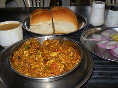 Mutton Ghotala with pav. Mmmmmm...