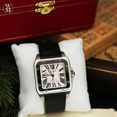 If you like a clean and classic look with a bit of style and character, the Cartier Santos 100 should be on your Christmas wish list. It's a watch that will still be in style years from now. #deals #steals #cartier #santos100 #watchmaster #passionforwatches #luxury #watch #time #christmas #gift