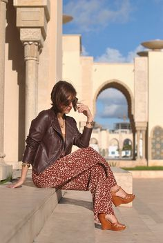 Christine of My Style Pill knows how to work brown into a look! #indie #style