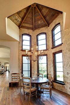 Possible use of old mill beams to support ceiling. Turret Design Ideas, Pictures, Remodel, and Decor - page 52