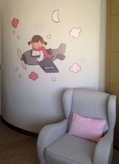 Decoracion infantil. Vinilo de #stencilbarcelona http://stencilbarcelona.com/productos/vinilos-infantiles-personalizados.html