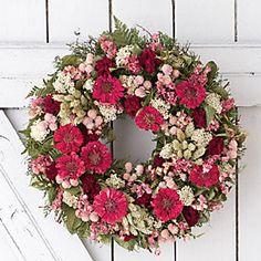 Zinnia Bouquet Wreath.  #terrainflowermarket