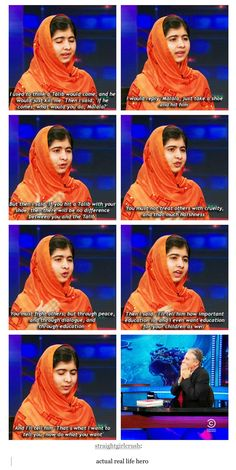 She is a freaking hero. I mean literally, she is so brave and strong, so much respect for her.
