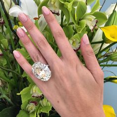 An oval brilliant-cut 52-carat diamond, set in platinum.
