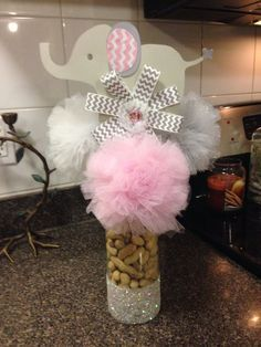 baby girl baby shower elephant theme - Google Search