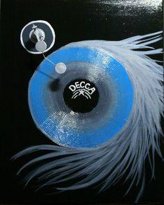 Vinyl - Mixed Media Artwork #vintage #record albums #record player