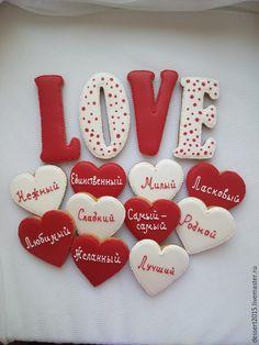 """Купить Набор пряников """"LOVE"""" - пряники, Пряники имбирные, пряники расписные, пряники love"""